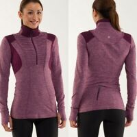 LULULEMON run your heart out pullover half zip heathered plum size 2
