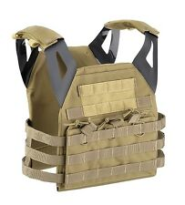 Gilet tattico softair/militare JPC endurance plate carrier Defcon5 tan.