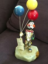 Vintage Ronald A. Lee Clown Sculpture - Clown with Three Balloons