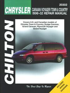 Chrysler 1996-02 Caravan / Voyager Chilton Repair / Workshop Manual - 20302