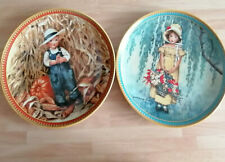 "Knowles 2 x collector plates ""Easter"" and  ""Thanksginving"" 1986 Jessie Willcox"