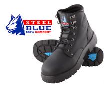 STEEL BLUE • MENS ARGYLE ZIP STEEL CAP BOOTS (312152) • SIZE 9.5 US • BRAND NEW