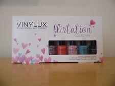 CND Vinylux Weekly Polish & Topcoat Flirtation Collection 5 pc Mini Set NIB