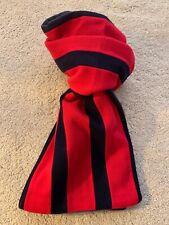 Merino Wool College Scarf - Red & Navy