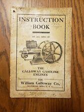 Galloway Engines Instruction Book Original Waterloo Iowa