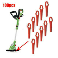 100x Lawnmower Electric Grass Strimmer &Trimmer Replacement Plastic Cutter Blade