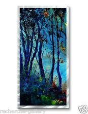 Landscape Painting on Metal Art by Pol Ledent Abstract Wall Sculpture Lost Way
