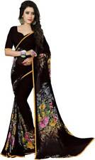 Floral Saree Bollywood Party Wear Indian Pakistani Ethnic Wedding Designer Sari
