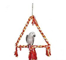 Rope Triangle Parrot Swing Toy For African Greys, Amazons, Cockatoos etc 7611