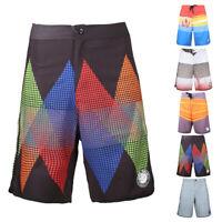 Men's Summer Beach Wear Riding Surf Fast Dry Swim Trunks Spandex Board Shorts