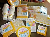 Bumble Bee Baby Shower Tableware Decorations; What Will it Bee? Decorations bees