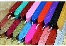 5Pcs Colorful Candle Wedding Square Style Sealing Wax Stick Wax with Wick Set