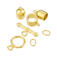 Bullet Shape Kumihimo Finding Set Toggle Clasp (6mm) Gold Plated (K27/4)
