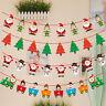 Christmas Hanging Flag Bunting Banner Xmas Tree Ornaments Happy New Year 2020