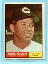 1961 Topps # 101  Bubbs Phillips  (EX) --     Cleveland Indians    Lot 717