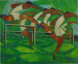 Hurdlers : William Greengrass Archival Quality  Art Print Suitable for Framing