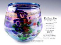 Hand Blown Studio Art Glass Artist Tom Bloyd ABSTRACT MODERN VASE