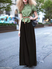Full Length Cotton Blend Maxi Skirts for Women