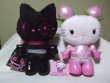 Hello Kitty Dark Grape Man & Honey Momo(peach) plush doll Sanrio 2012 Rare NWT!