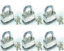"Lock Set Master M5KA (Lot 6) KEYED ALIKE Large 2"" Body Carbide Shackle Magnum"