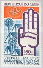 NIGER 1972 323 C181 World Boy Scouts Seminar Cotonou Pfadfinder Zelte MNH