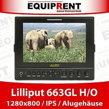 "Lilliput 663 H/O 18cm/7"" IPS 1280x800 HDMI In/Out Moniteur + boîtier métallique eq511"