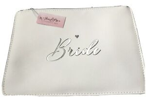 WHITE  & SILVER BRIDE CLUTCH BAG ~ New 10 x 7