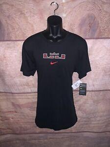 Nike Lebron James Tee Shirt Dri fit Black Mens Size Large Cd1318 010