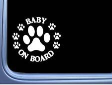 "Baby on Board Dog Rescue L498 6"" Sticker decal"