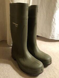 Dunlop Purofort Green Rubber Welly Boots Size UK11