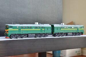 Handmade Russian CCCP RZD Class 2TE116 Diesel Engine Green ULTRA RARE