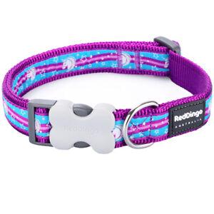 Red Dingo UNICORN Dog / Puppy Collar  XS - LG  Free P&P lead sold separately