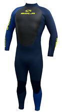 Mens Sola Blaze 5/4 Fullsuit Winter Wetsuit Graphite/Blue LARGE (L)