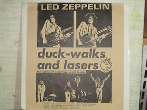 lp vinile 33 giri live led zeppelin Duck-Walks and laser 2vinili colorati rosso