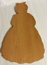 "Vintage Kitchenware Wood Mammy Shaped Cutting Board 15"""