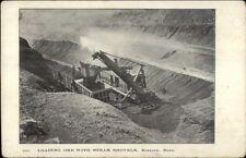 Hibbing Mn Loading Ore Steam Shovel Mining c1905 Postcard