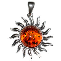 4.15g Authentic Baltic Amber 925 Sterling Silver Pendant Jewelry N-A1753