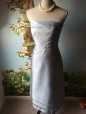 Belsoie Antique Blue Bridesmaid Prom Evening Satin Dress SZ 8 NWT