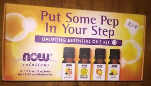 """Uplifting Boosting """"Now"""" Essential Oils Kit 4-10 ml Bottles in All!"""
