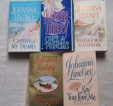 lot of 5 Johanna Lindsey Regency romance 3 Malory series + Once a Princess ++