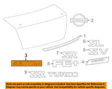 NISSAN OEM 13-18 Sentra Trunk Lid-Emblem Badge Nameplate 848903SH1A