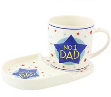 No.1 Dad Mug and Tray Gift Set in Fine China Leonardo Collection