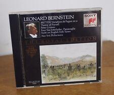 BRITTEN variations & fugue – Léonard Bernstein - Sony 1992 – SMK 47 541