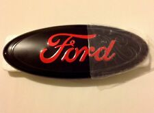 "FORD Black And Red Front Grille Or Tail Emblem 9"" For F150,250,350,Edge,Explorer"
