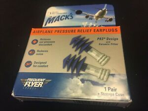 Mack's Flightguard Airplane Pressure Relief Earplugs**Reusable**FREE SHIPPING