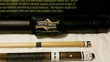 American Heritage adapti - length  pool cue and case combo. $100 retail.