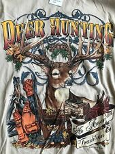 Buck Wear Men's Deer Hunting T Shirt Size Large New With Tags