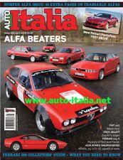 Auto italia Magazine issue 266 Alfa transaxle special 75, Alfetta, SZ, GTV6, 308
