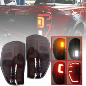 Fit Ford Ranger Raptor T6 T7 PX MK XLT 2012-19 Tail Light Rear Lamp LED Smoke