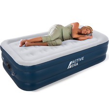 Active Era Premium Twin Size Inflatable Air Mattress with AC Pump and Pillow 18
